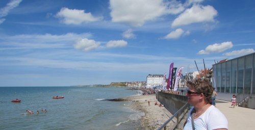 """Le autre moitié"" on Wimereux Plage giving someone on the Kent Coast the ""Your Dead"" look!"